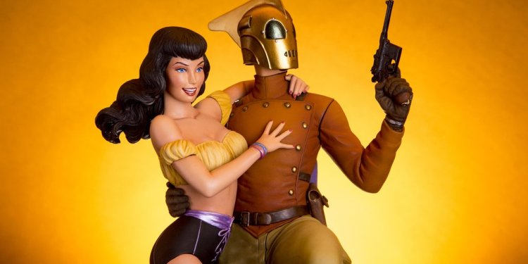 The Rocketeer and Betty Statue from Mondo