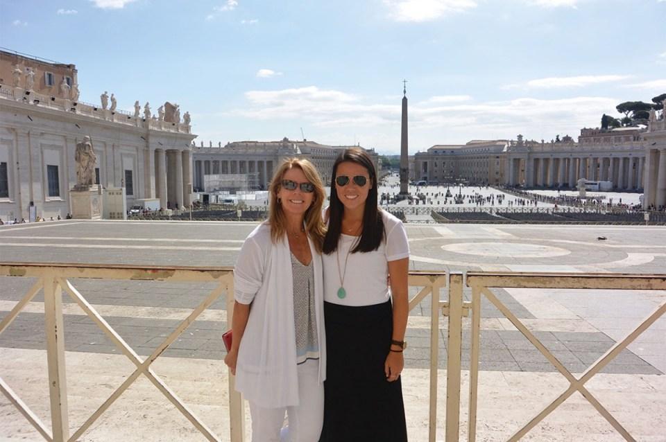 Mom & Emma Visit the Vatican