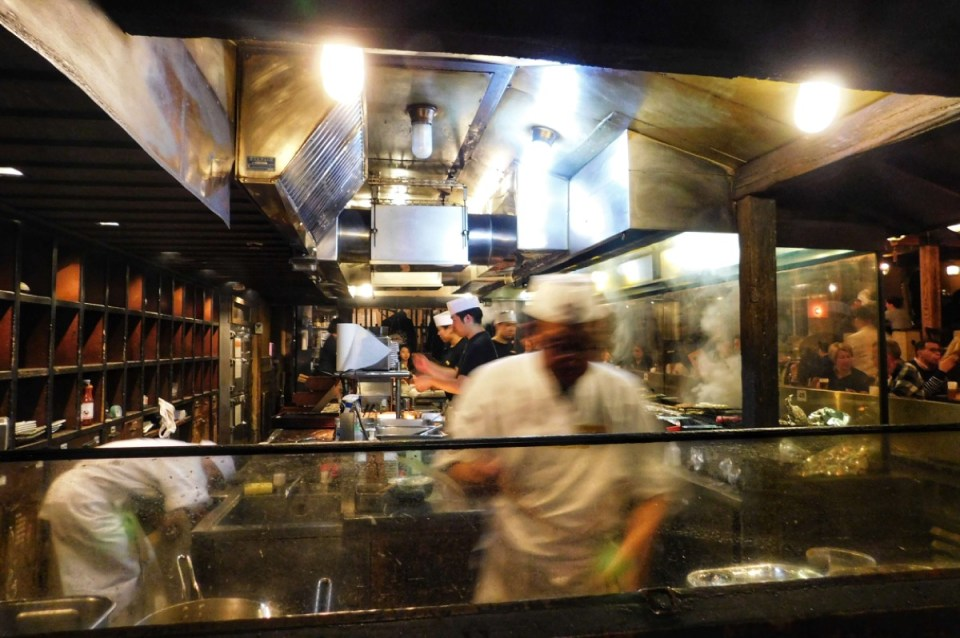 Japanese Yakitori being made