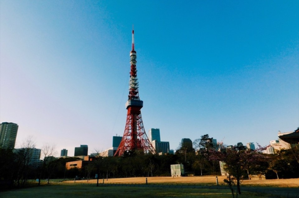 Tokyo Tower near Tokyo Shrines