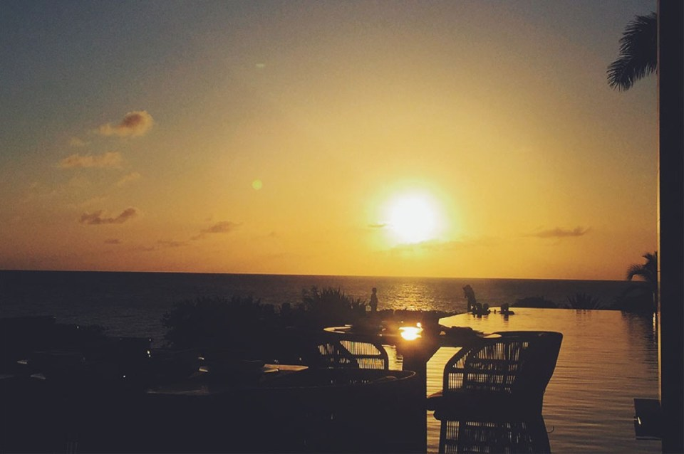 Sunset at Four Seasons Anguilla