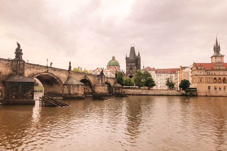 River Boat Cruise in Prague Charles Bridge