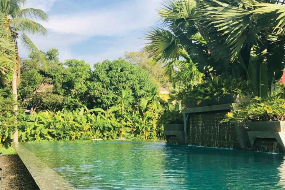 one of two pools at jaya house siem reap