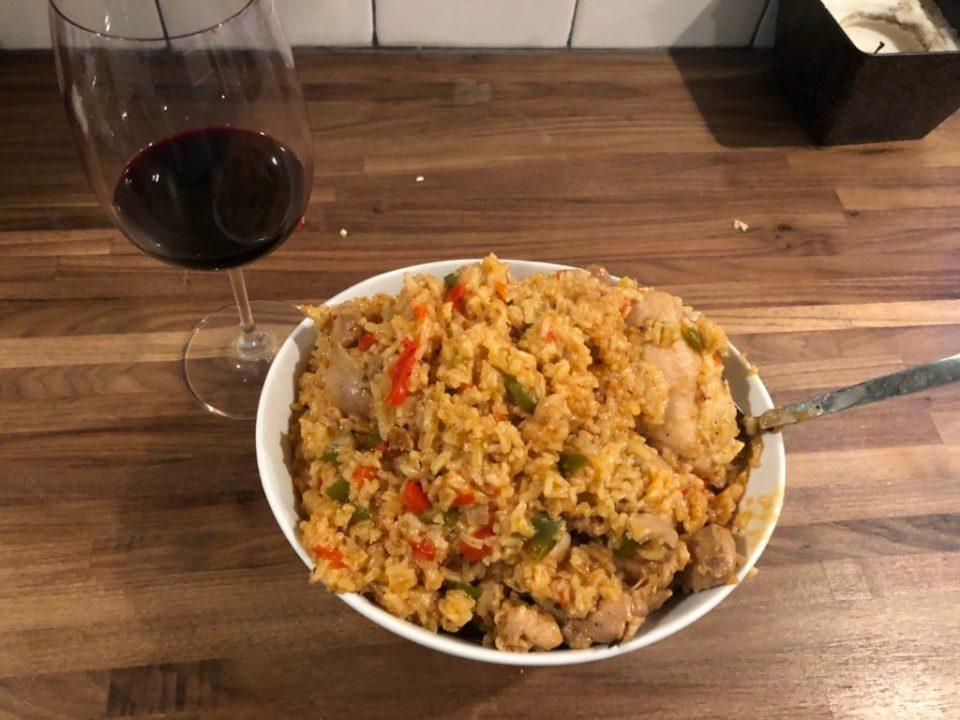 arroz con pollo final product