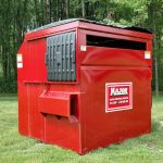 Major Waste 8 Yard Container front load side