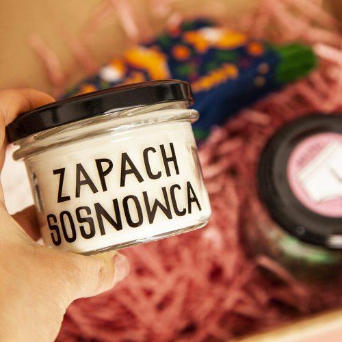 ZAPACH SOSNOWCA – ręcznie robiona świeczka sojowa