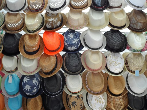 Row of Straw Hats for Sale