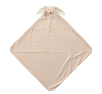 beige bunny angel dear napping blanket