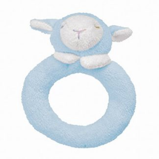blue lamb angel dear rattle