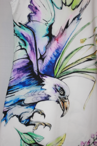 close up of painted eagle