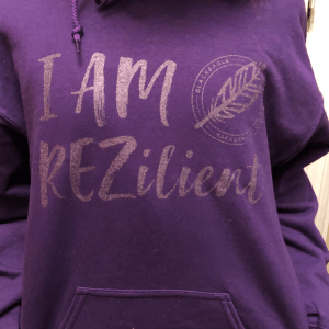 Image of I AM REZilient hoodie.