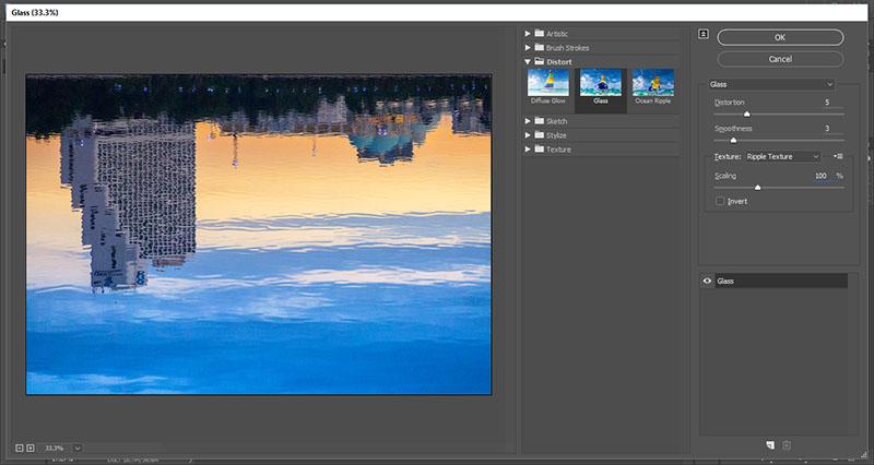 water-refletion-by-photoshop-19-filter-distort-glass