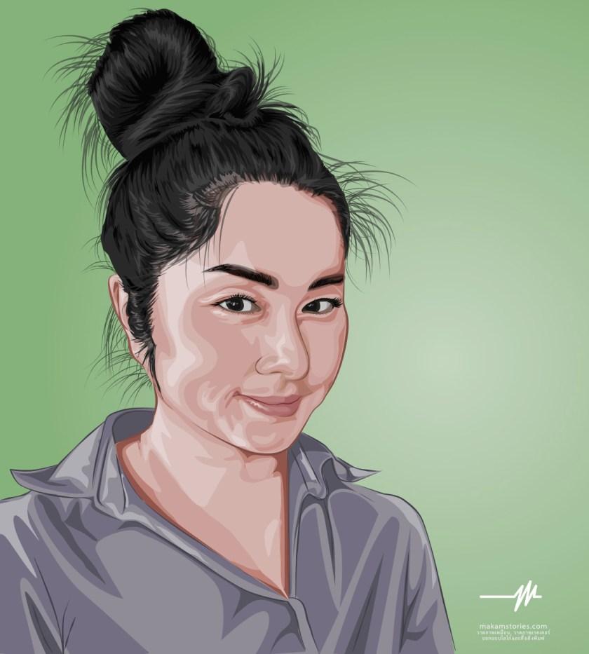ผลงานวาดภาพเหมือนเวคเตอร์ วาดภาพเหมือนด้วยโปรแกรม Affinity Designer และ Illustrator