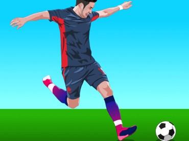 วาดภาพเหมือนเวคเตอร์ ภาพเหมือนดาราฟุตบอล วาดภาพเหมือนด้วยโปรแกรม Affinity Designer ภาพที่ 2