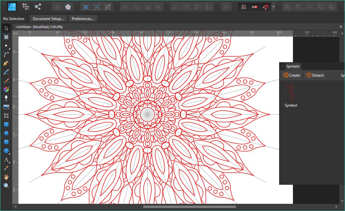 วิธีสร้างภาพแมนดาลา (Mandala) ด้วยโปรแกรม Affinity Designer