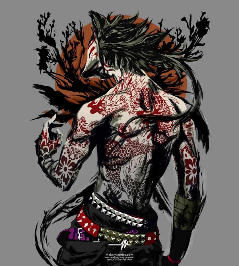 วาดภาพตัวการ์ตูน Zero Hotaru จากเรื่อง One Piece ด้วยโปรแกรม Affinity Designer