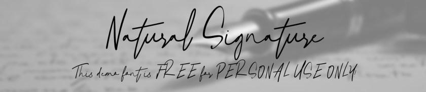 แนะนำฟอนต์สไตล์ลายเซ็นภาษาอังกฤษ Natural Signature