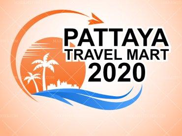 ออกแบบโลโก้ท่องเที่ยว Pattaya Travel Mart Logo