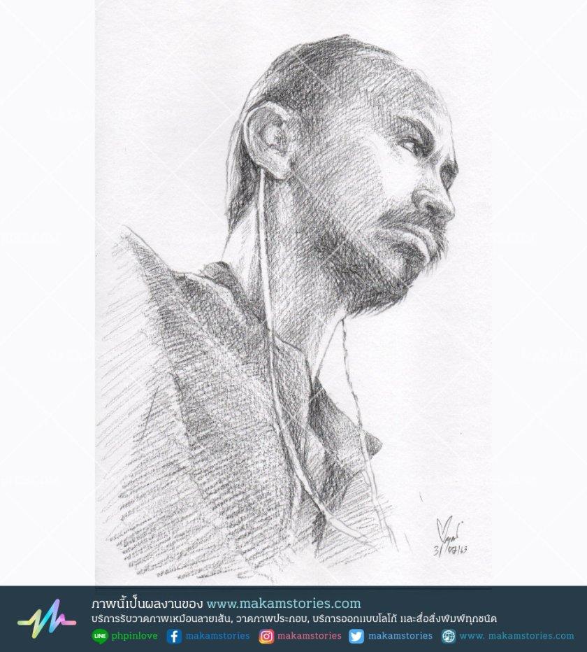 วาดภาพเหมือนลายเส้นดินสอ ภาพวาด Drawing ภาพเหมือนบุคคล Portrait Drawing
