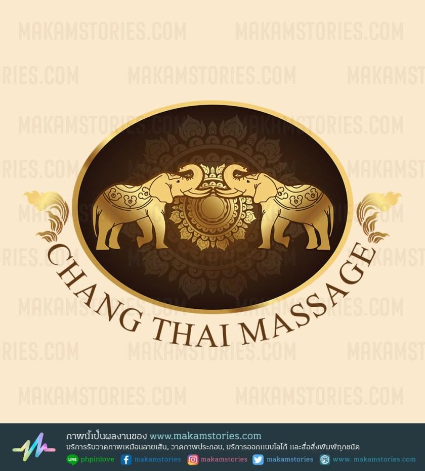 งานออกแบบโลโก้ร้านนวดแผนไทย โลโก้ลายไทย Thai Massage Logo