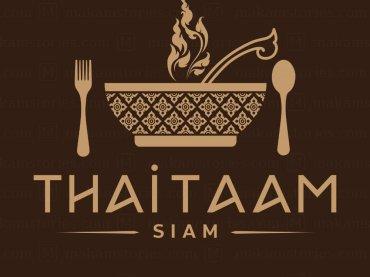 โลโก้ร้านอาหารไทยในต่างประเทศ โลโก้ลายไทย Thai Restaurant Logo