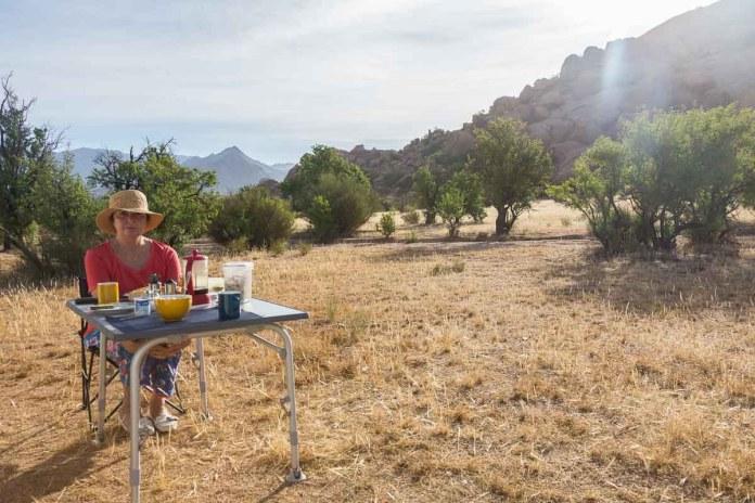 Frühstück in menschenleerer Gegend - einfach schön