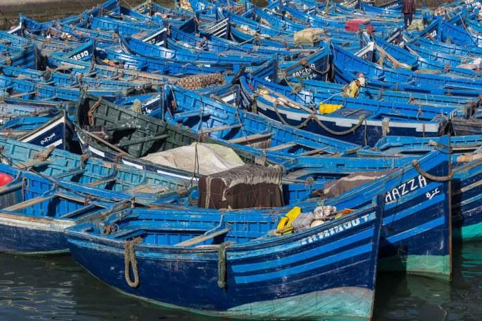Die Fischerboote im Hafen bieten einen sehr schönen Anblick