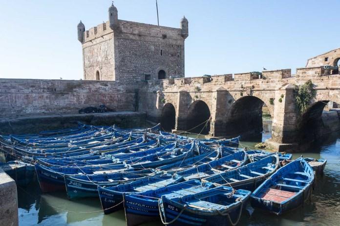 Die Hafenanlage in Essaouria