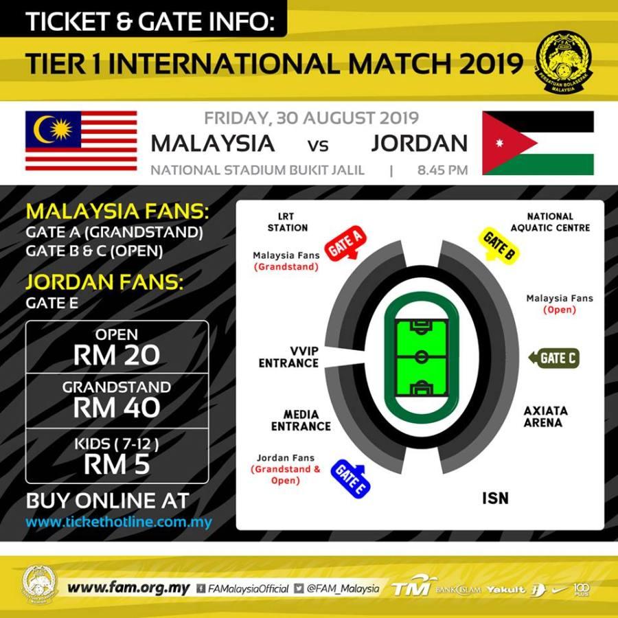 69287923 2344763925620358 5239228977150689280 n Tiket Perlawanan Malaysia - Jordan Sudah Mula Dijual Secara Online