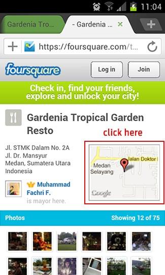Cari tempat makan dengan Foursquare dan Google Maps