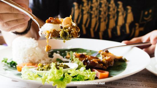 Nasi Ayam Bakar Cabe Ijo Morning Glory