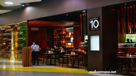 District 10 restaurant bar