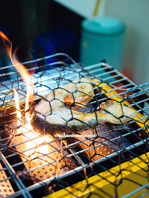 grill salmon leher atlantic Rumah Makan Atlantic Salmon