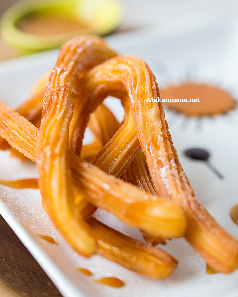 closeup of churros chatswood coffee