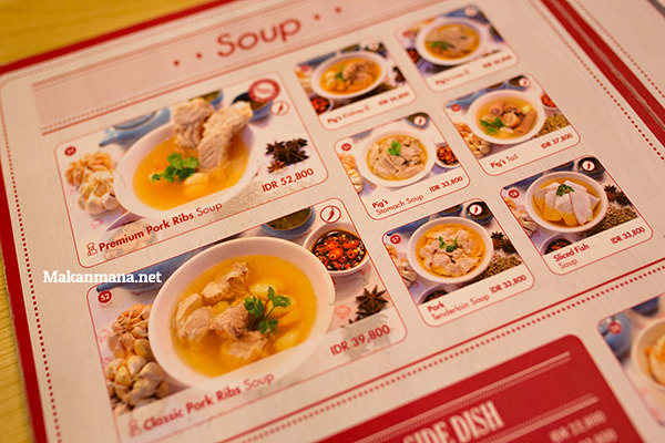 soon hwa menu inside medan