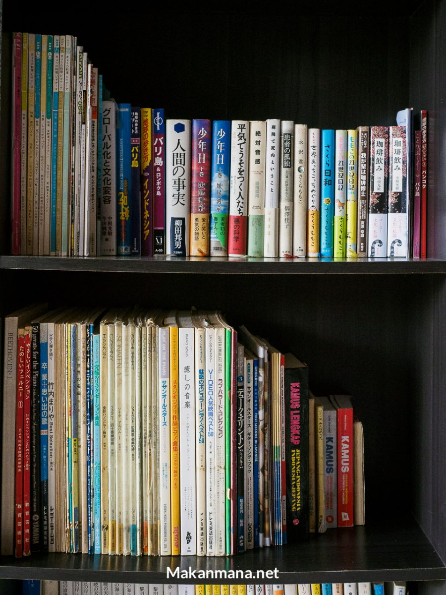 Japanese books at Michi Cafe