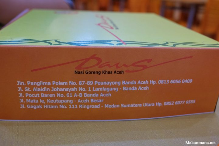 Daus Nasi Goreng Khas Aceh