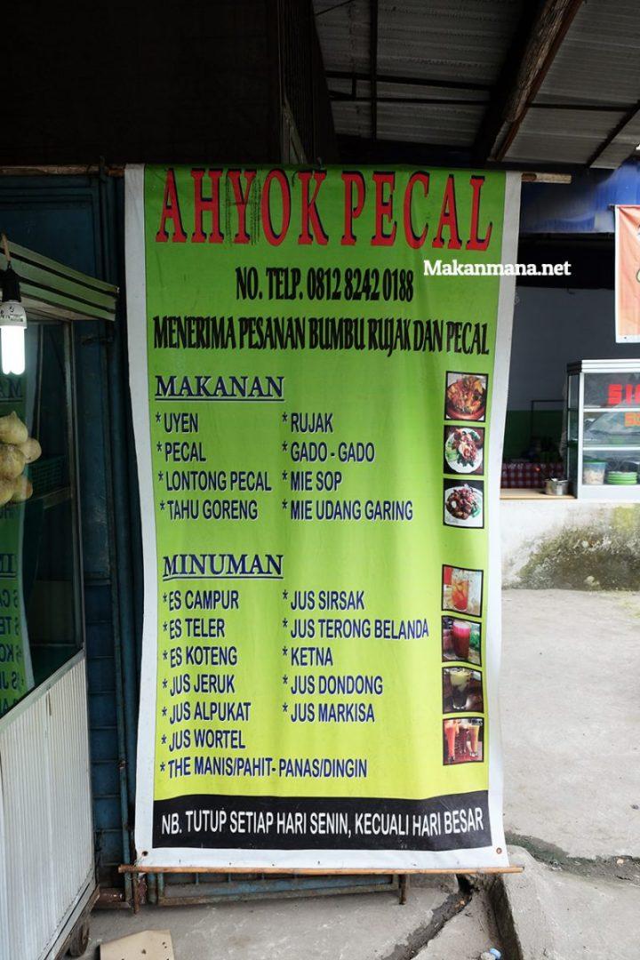 ahyok menu