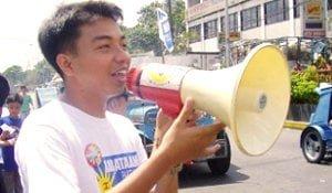 Kabataan Party Rep. Mong Palatino