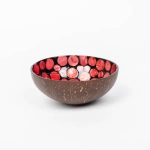 Kokosnussschale Rot, Perlmutt