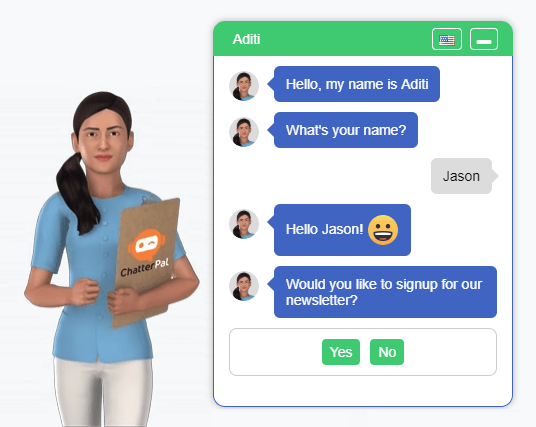 , 3-D Avatar Chatbots