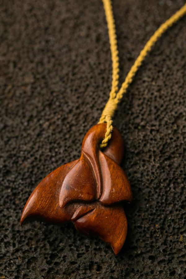 Hand Carved Hawaiian Koa Wood Necklaces