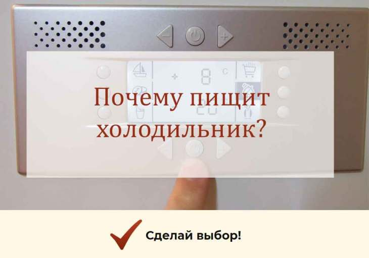 Почему пищит холодильник Атлант, Самсунг, Liebherr и другие