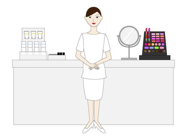 デパートの化粧品コーナー