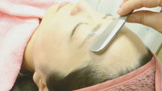 顔の産毛処理