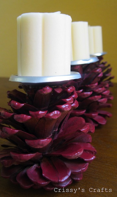 How To Pine Cone Candle Holder Make Handmade Crochet