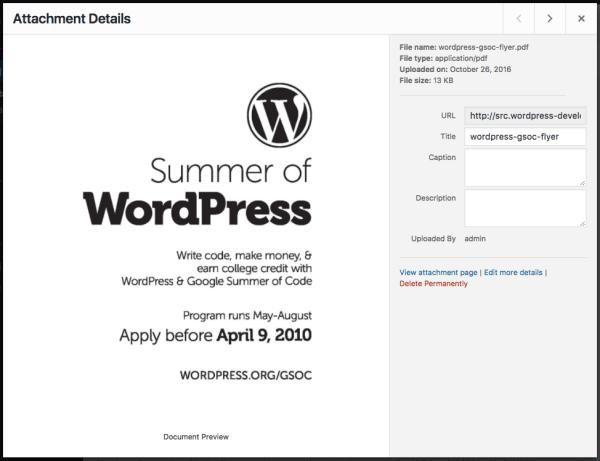 Enhanced PDF Support in WordPress 4.7 – Make WordPress Core