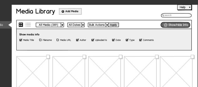 Media Grid-show hide