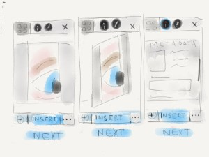 Link to full size Metadata Mobile Wireframe Sketch