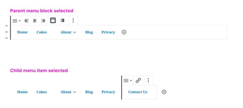 Integrating existing block patterns into the Navigation block.